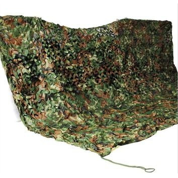 Hot Sell 2x3m Woodland Camouflage Net Camo Netting Camping Beach Military Hunting Large Shelter Sun Shade Awning Tent
