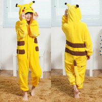 Children Kids Boys Girls Pikachu Onesuits Cosplay Pyjamas Pajamas Animal Cartoon Pokemon Costumes Kids Sleepwear Halloween gift