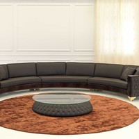 Classic style sectional upholstered leather sofa MUSEO Lumiere Collection by Formenti