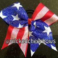 Cheer Bow - Stars & Stripes