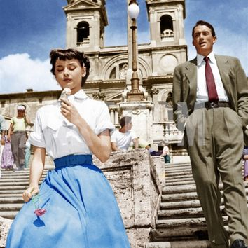 ROMAN HOLIDAY, from left: Audrey Hepburn, Gregory Peck, 1953 Premium Poster at Art.com