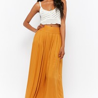 Pleated Maxi Skirt