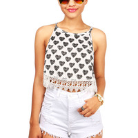 Heart Breaker Crop Top | Cute Clothes at Pink Ice