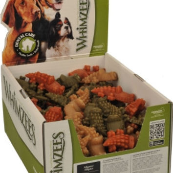 Paragon Whimzees Alligator Dental Dog Treats Small 100 ct