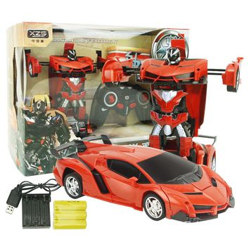 RC Cars Deformation Remote Control Cars Robot King Kong Remote Control Car Toys Gift for Boys Children Chargable