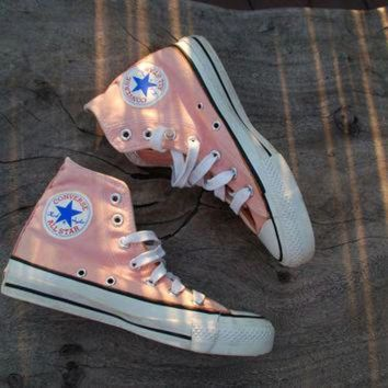 CREYUG7 Vintage Converse All Star Chucks Peach/Coral Rare Color Skate Shoe Sneakers 70s or 80s