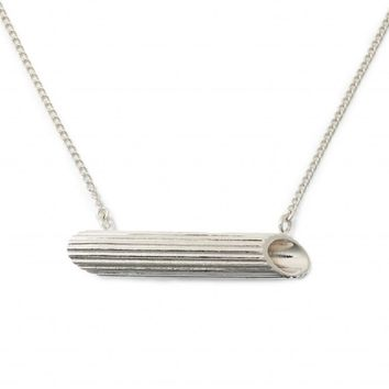 Sterling Silver Penne Pasta Necklace