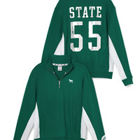 Michigan State Boyfriend Half-Zip - PINK - Victoria's Secret