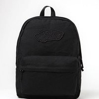 Vans Realm Black School Backpack - Womens Backpack - Black - One