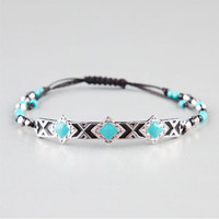 FULL TILT Ethnic Plate Beaded Bracelet