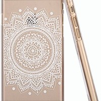 iPhone 6 Plus Case , LA GO GO(Henna) Clear Plastic Case Cover for Apple iPhone 6 Plus (5.5 inch) (Henna Lotus Floral Elephant Hindu Ganesh)