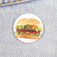Cheeseburger 1.25 Inch Pin Back Button Badge