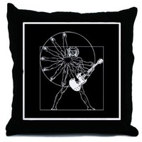 Vitruvian Windmill Throw Pillow by vicevoices