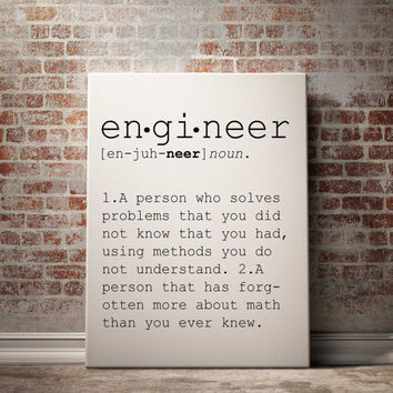 Definition of Engineer Funny wall art Typography Print Funny Poster Name Definition Instant Download Printable Art Minimalist Art Art Print