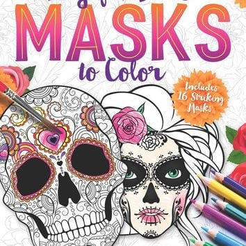 Day of the Dead Masks to Color CLR CSM