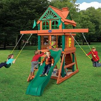 Playnation Redbrook Space Saver Wooden Swing Set