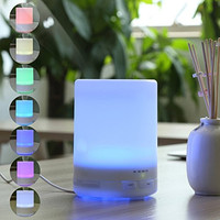 Apriller 300ml Ultrasonic Aromatherapy Essential Oil Diffuser & Cool Mist Humidifier with LED Night Light