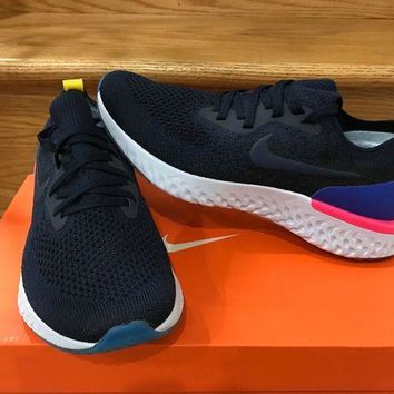 Gotopfashion Nike Epic React Flyknit College Navy Blue Sz 6-13 Men Women New AQ0067-400