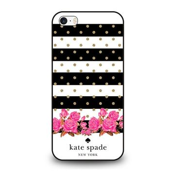 KATE SPADE NEW YORK FLORAL POLKADOTS iPhone SE Case Cover