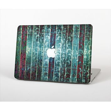 The Aged Blue Victorian Striped Wall Skin Set for the Apple MacBook Air 13""