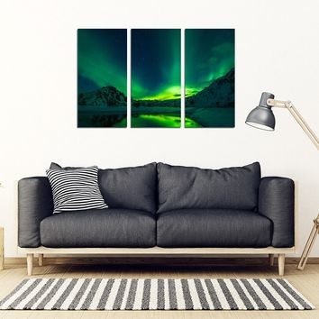 Aurora Borealis Canvas Art (3, 4, 5 PC)