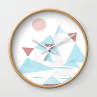 WinterScape #society6 #buyArt #decor Wall Clock by mirimo