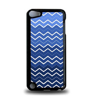 Navy Ombre Chevron iPod Touch 5 Case - For iPod Touch 5/5G - Designer Plastic Snap On Case