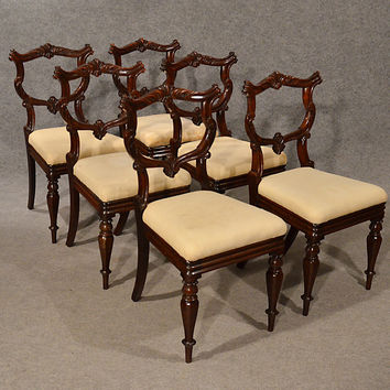 Antique Dining Chairs Rosewood Set of 6 Fine Quality William IV English c1835