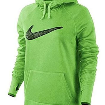 CREYON Nike Women's All Time Graphic 3 Training Hoodie 685463 Volt/Black (X-Small)