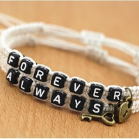 Couples Always Forever Key Lock Bracelets Personalized Anniversary Gift = 1697627204