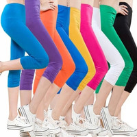 Women's Casual Seamless Tights Capri Leggings Yoga Running Workout Pants Plus Size L-XXXXL = 1932534916