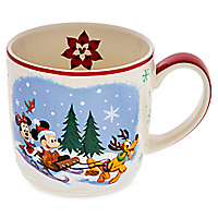 Santa Mickey Mouse and Friends Happy Holidays Mug