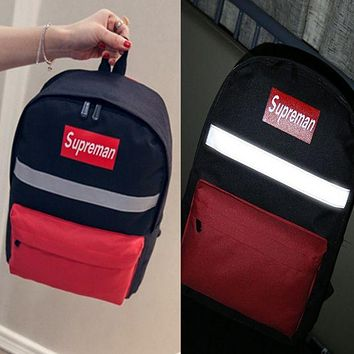 DCCKW2M Supreme:Reflective  Casual Sport Laptop Bag Shoulder School Bag Backpack