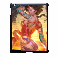 Wonder Women And Zelda Tattoo Superhero iPad 2 Case