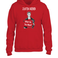 Justin Bieber What Do You Mean  - UNISEX HOODIE