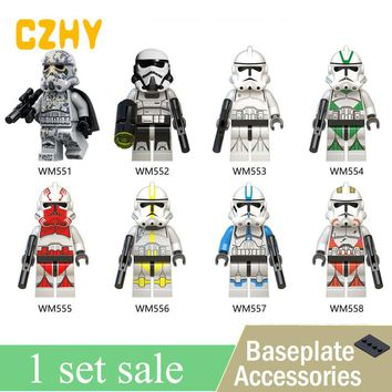 New Clone Trooper Army Clone Mimban Troop Robot Action Figures Building Blocks Toys For Christmas Gifts WM6036