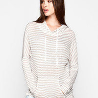 Full Tilt Essential Womens Heavenly Hoodie Taupe  In Sizes