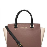 Michael Michael Kors Tricolor Medium Selma Top Zip Satchel