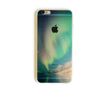iPhone 6 Plus Case Aurora Borealis iPhone 6 Plus Soft Case Northern Lights iPhone 6 Plus Slim Design Case Sky Clouds Nature 1299