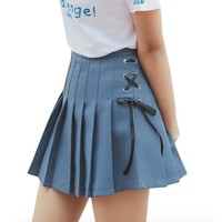 Lace Up School Girl Skirt