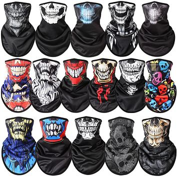 New Winter Outdoor Ski Snowboard Motorcycle Winter Warmer Sport Full Face Mask Pirates 3D Printed Skull Scarf Skiing Mask