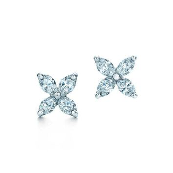 DCCKG2C Tiffany & Co. Victoria Collection Diamond Earrings