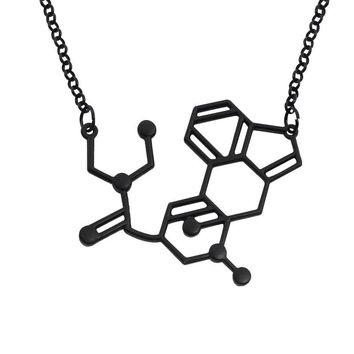 Elfin 2017 New Dopamine DNA Pendant Necklace Chemical Structure Jewelry Necklace