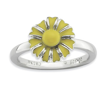 Sterling Silver Stackable Expressions Daisy Ring