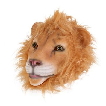 Mask Beathable Emulsion Full Face Mask Lion Horror Down Pumpkin Zombie Halloween Costume Party