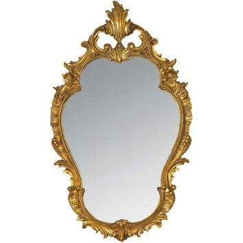 GM Luxury Abruzzo Decorative Wall Art Mirror for Elegant Design, Gold Leaf 22.8x38.6