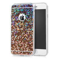 For iPhone 6 / 6S Luxury Colorful Glitter Cases Ultra Slim Soft TPU Back Protective Skin Cover for iPhone 6 Plus / 6S Plus