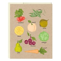Fresh Produce Stationery 5 Pack