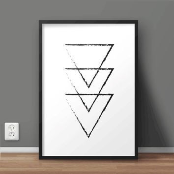Geometric Abstract Printable Wall Art | Scandinavian Print | Minimal Print | Large print