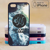 5 SECONDS OF SUMMER BEACH POSTER Case For iPhone 6 Plus For iPhone 6 For iPhone 5/5S For iPhone 4/4S For iPhone 5C-5 Colors Available